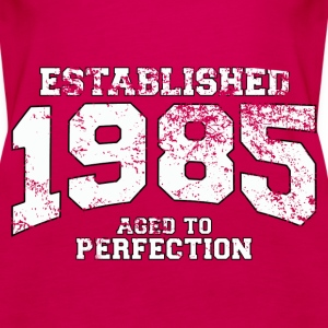 established 1985 - aged to perfection (uk) Tops - Women's Premium Tank Top