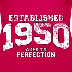 established 1950 - aged to perfection (uk) Tops - Women's Premium Tank Top