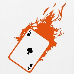 carte poker card as flamme pique2 Tee shirts - Débardeur Premium Homme