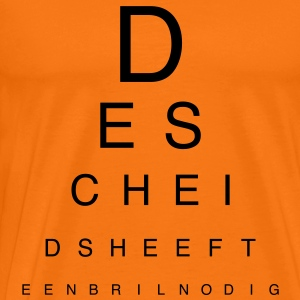 De scheids is blind T-shirts - Mannen Premium T-shirt