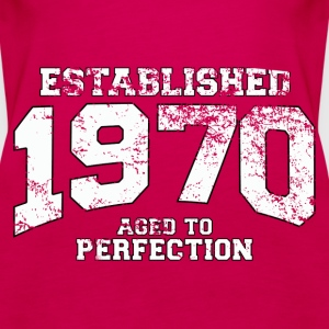 established 1970 - aged to perfection (fr) Débardeurs - Débardeur Premium Femme