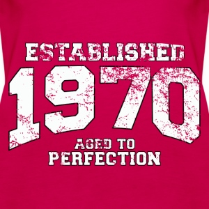 established 1970 - aged to perfection (uk) Tops - Women's Premium Tank Top