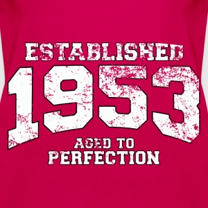 established 1953 - aged to perfection (uk) Tops - Women's Premium Tank Top