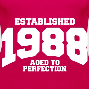 aged to perfection established 1988 (no) Topper - Premium singlet for kvinner