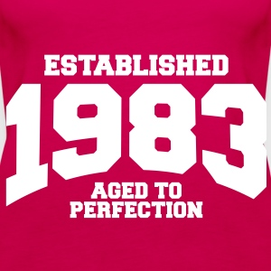 aged to perfection established 1983 (sv) Toppar - Premiumtanktopp dam
