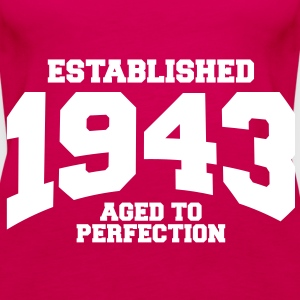 aged to perfection established 1943 (sv) Toppar - Premiumtanktopp dam