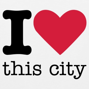 I Love This City T-shirts - Mannen Premium tank top