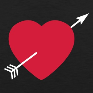 Heart round with arrow Tee shirts - Débardeur Premium Homme