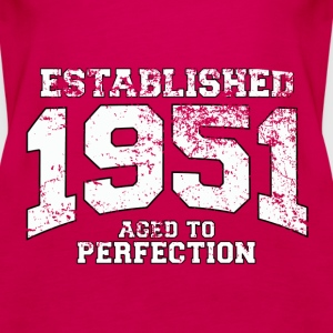 established 1951 - aged to perfection (fr) Débardeurs - Débardeur Premium Femme