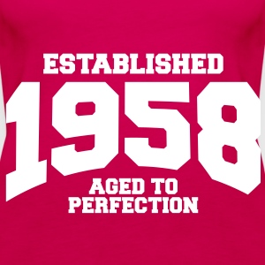 aged to perfection established 1958 (sv) Toppar - Premiumtanktopp dam