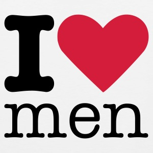 I Love Men T-shirt - Canotta premium da uomo