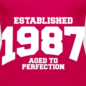 aged to perfection established 1987 (no) Topper - Premium singlet for kvinner