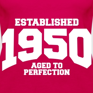 aged to perfection established 1950 (sv) Toppar - Premiumtanktopp dam