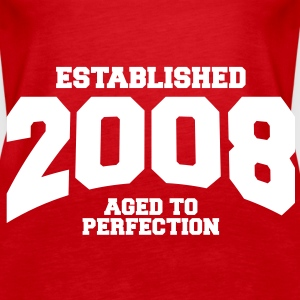 aged to perfection established 2008 (sv) Toppar - Premiumtanktopp dam