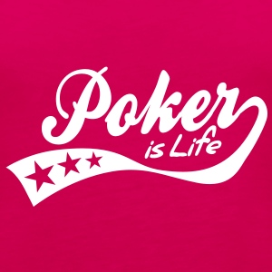 poker is life - retro Topy - Tank top damski Premium