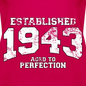 established 1943 - aged to perfection (uk) Tops - Women's Premium Tank Top