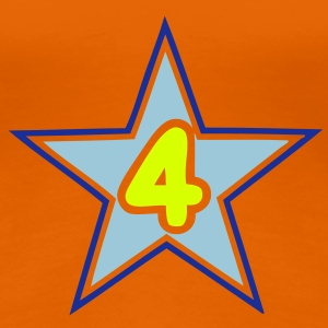 4 four numero number star etoile Tee shirts - T-shirt Premium Femme