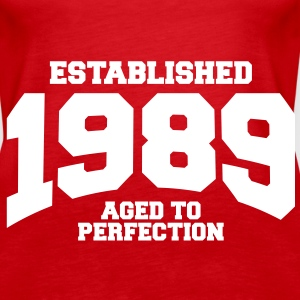 aged to perfection established 1989 (sv) Toppar - Premiumtanktopp dam