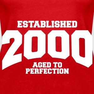 aged to perfection established 2000 (sv) Toppar - Premiumtanktopp dam