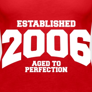 aged to perfection established 2006 (sv) Toppar - Premiumtanktopp dam