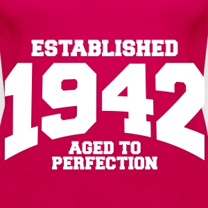 aged to perfection established 1942 (sv) Toppar - Premiumtanktopp dam