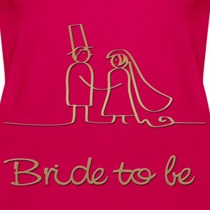bride to be Tee shirts - Women's Premium Tank Top
