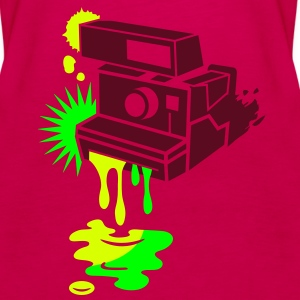 Instant camera - color drips out -  Tops - Women's Premium Tank Top