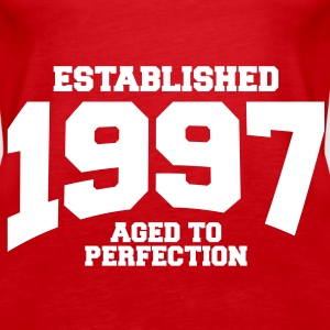 aged to perfection established 1997 (sv) Toppar - Premiumtanktopp dam