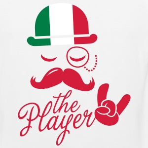 Italy retro gentleman sports player rock | olympics | football | Championship | Moustache | Flag European T-Shirts - Men's Premium Tank Top