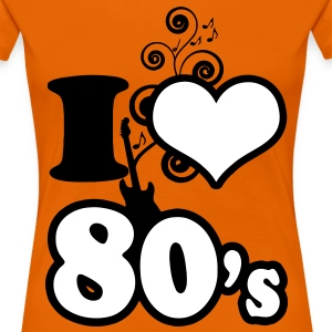 i love 80s - Women's Premium T-Shirt