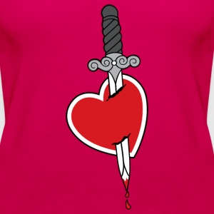 Heart and Knife - Frauen Premium Tank Top