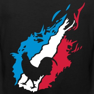france foot supporter equipe coq flamme1 Tee shirts - Débardeur Premium Homme