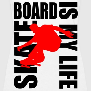 skateboard is my life Topper - Premium singlet for kvinner