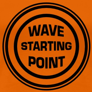 Wave Starting point T-shirts - Vrouwen Premium T-shirt