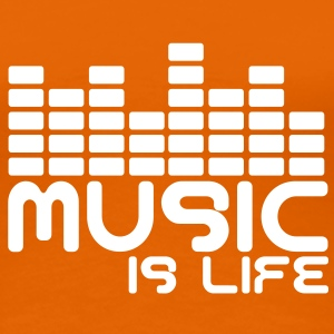 Music is life with equaliser  Tee shirts - T-shirt Premium Femme