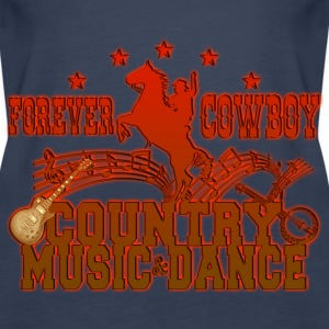 forever cowboy country music & dance Tops - Women's Premium Tank Top