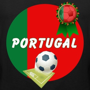 Portugal Football Team Supporter Rosette Ball & Pitch  - Men's Premium Tank Top