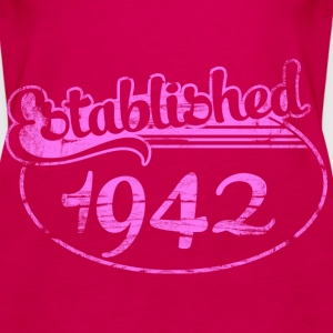 established 1942 dd (es) Tops - Camiseta de tirantes premium mujer