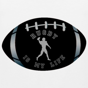 rugby is my life Camisetas - Tank top premium hombre