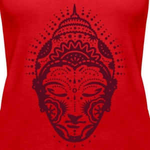 Buddha head decorated with ornaments Tops - Women's Premium Tank Top