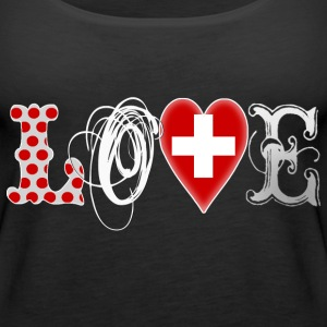 Love Suisse White Tops - Frauen Premium Tank Top