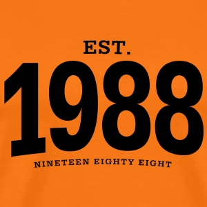 EST. 1988 Nineteen Eighty Eight - Männer Premium T-Shirt
