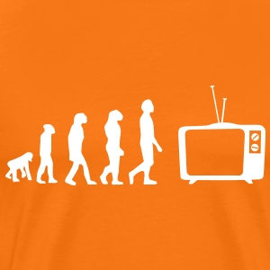 Evolution tv, sofa, sofa, fladskærms-tv, rør T-shirts - Herre premium T-shirt