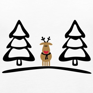 christmas reindeer Tops - Women's Premium Tank Top