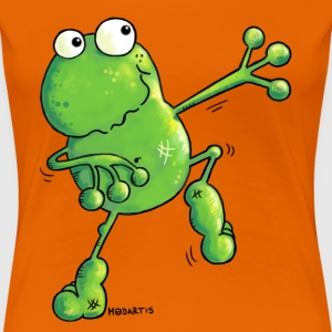Green Power - Frø - Frog - Cartoon T-shirts - Dame premium T-shirt