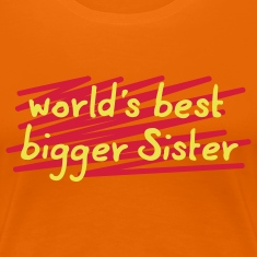 world's best big sis - 3 Farb Vektor T-Shirts