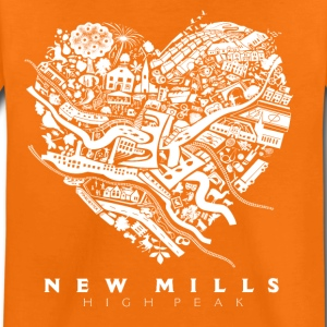 LOVE NEW MILLS White Shirts - Kids' Premium T-Shirt