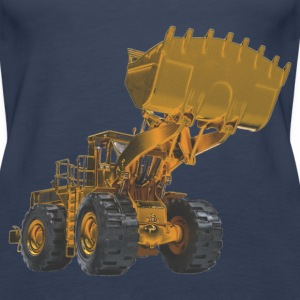 Old Mining Wheel Loader - Yellow Tops - Women's Premium Tank Top