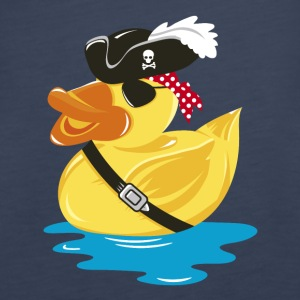 Pirate Rubber Duck with a pirate hat and eye patch Tops - Women's Premium Tank Top