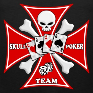 skull poker team T-Shirts - Men's Premium Tank Top